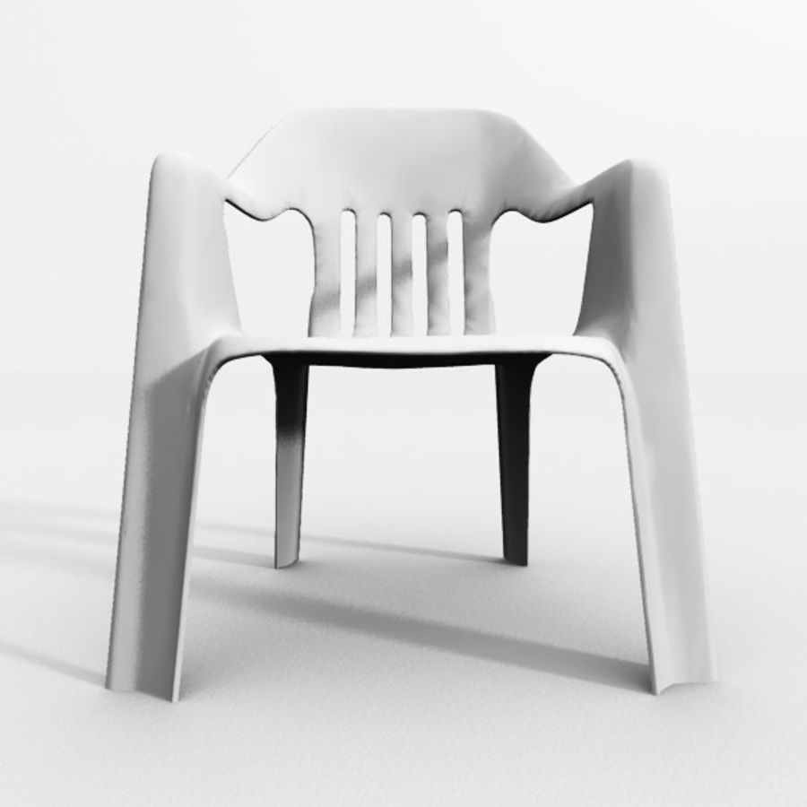 outdoor garden chair royalty-free 3d model - Preview no. 3