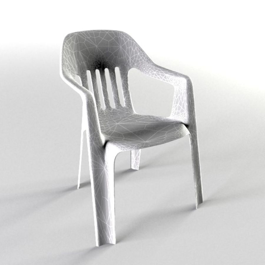 outdoor garden chair royalty-free 3d model - Preview no. 4