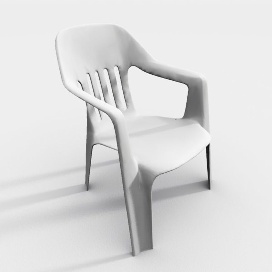 outdoor garden chair royalty-free 3d model - Preview no. 1