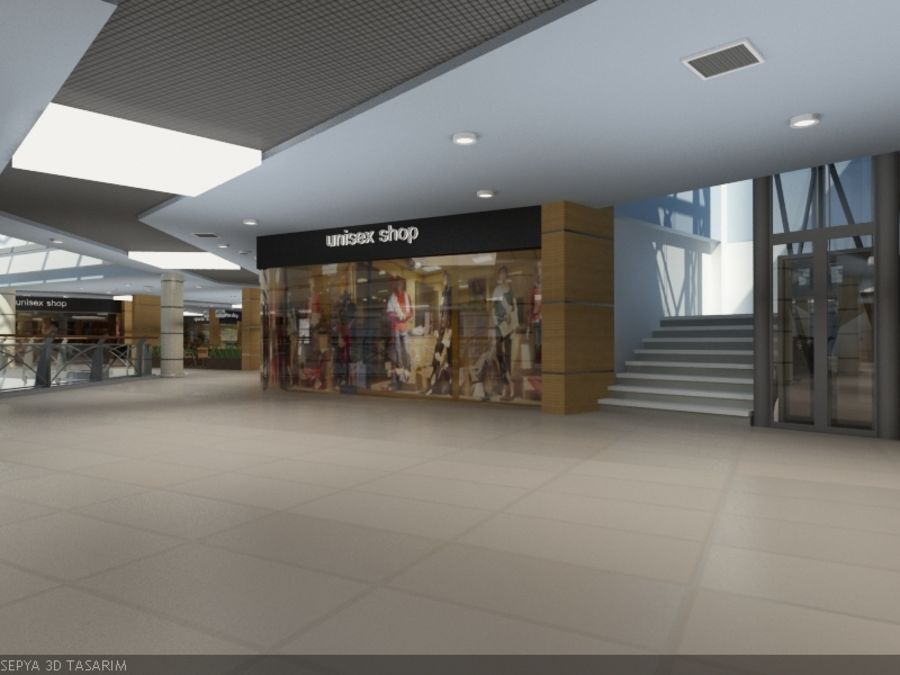 Mall royalty-free 3d model - Preview no. 3