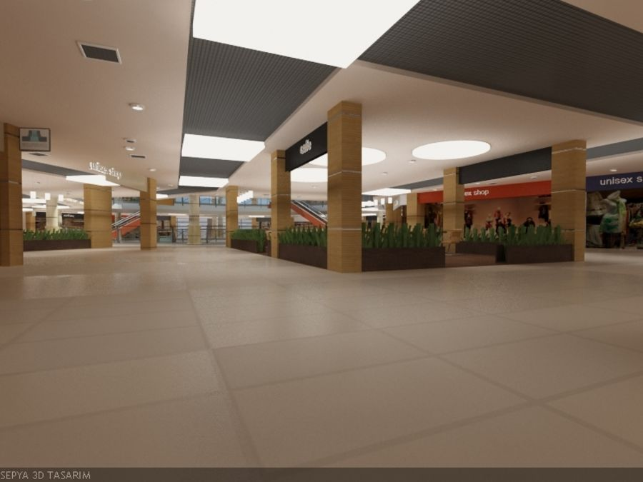 Mall royalty-free 3d model - Preview no. 4