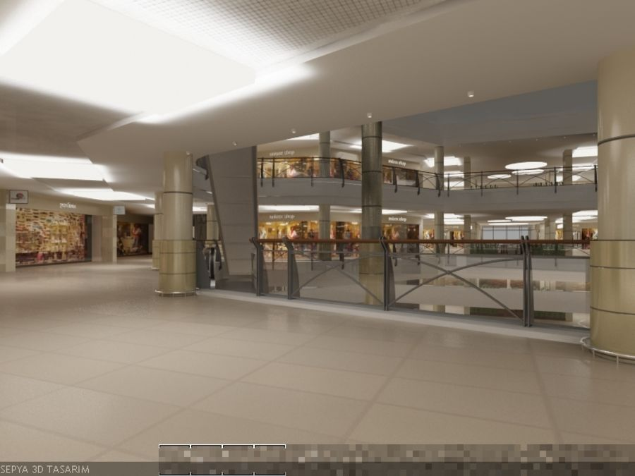 Mall royalty-free 3d model - Preview no. 2