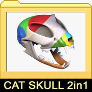 Crânes de chat 2 en 1 3d model