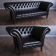 Chesterfield The Durhamアームチェア&ソファ 3d model
