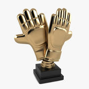 Football Gloves Trophy 3d model