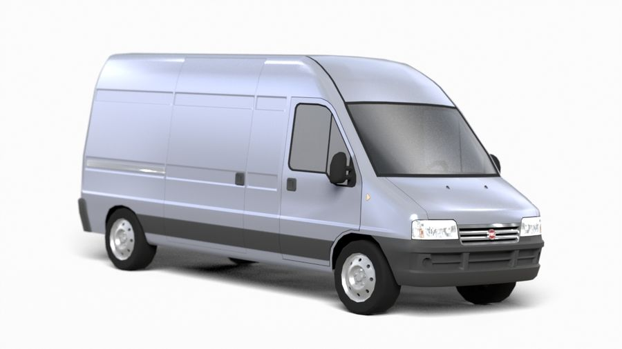 fiat ducato royalty-free 3d model - Preview no. 5