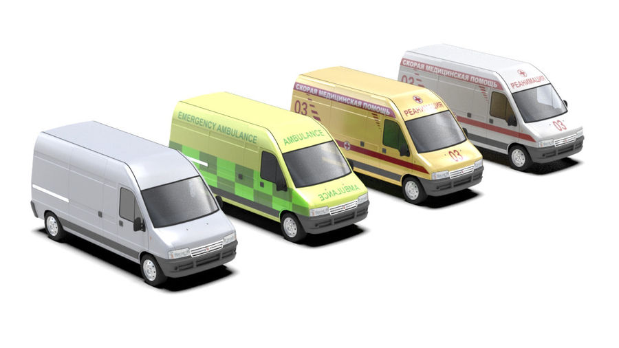 fiat ducato royalty-free 3d model - Preview no. 1