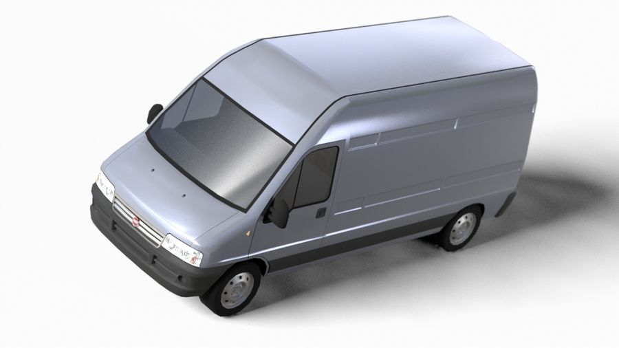 fiat ducato royalty-free 3d model - Preview no. 7