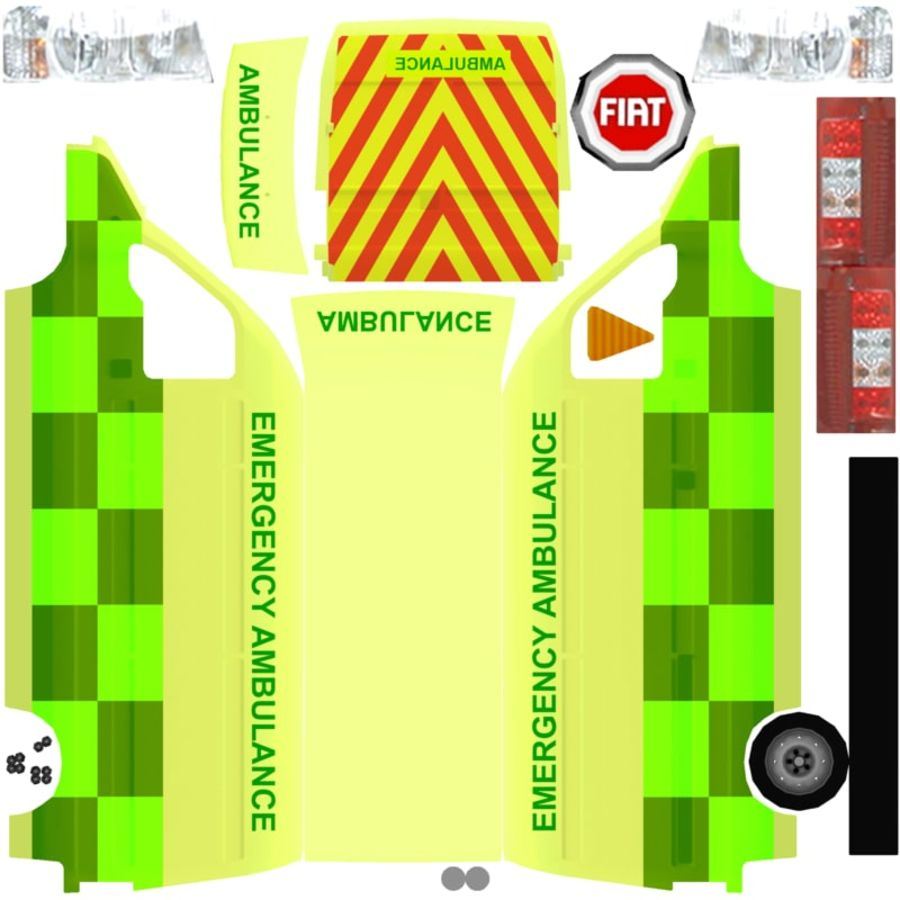 fiat ducato royalty-free 3d model - Preview no. 14