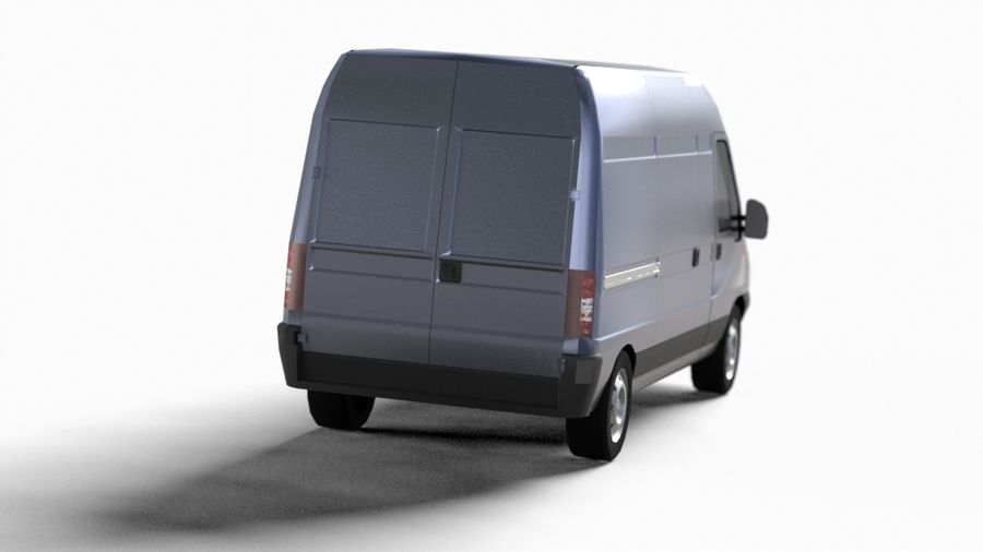 fiat ducato royalty-free 3d model - Preview no. 8