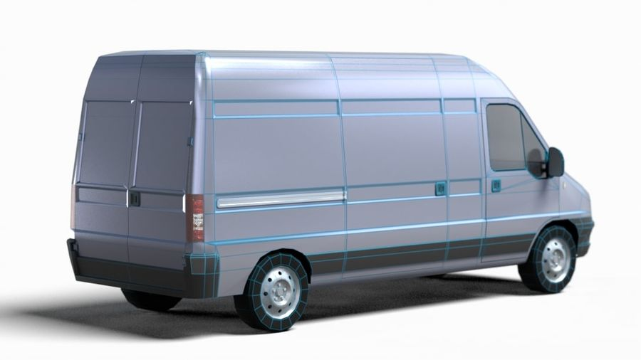 fiat ducato royalty-free 3d model - Preview no. 11