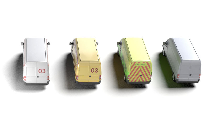 fiat ducato royalty-free 3d model - Preview no. 2