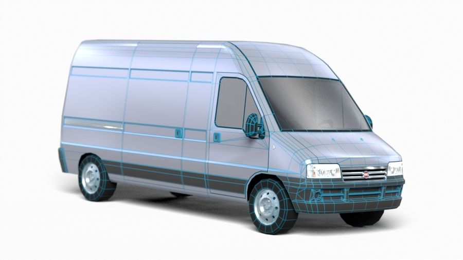fiat ducato royalty-free 3d model - Preview no. 10
