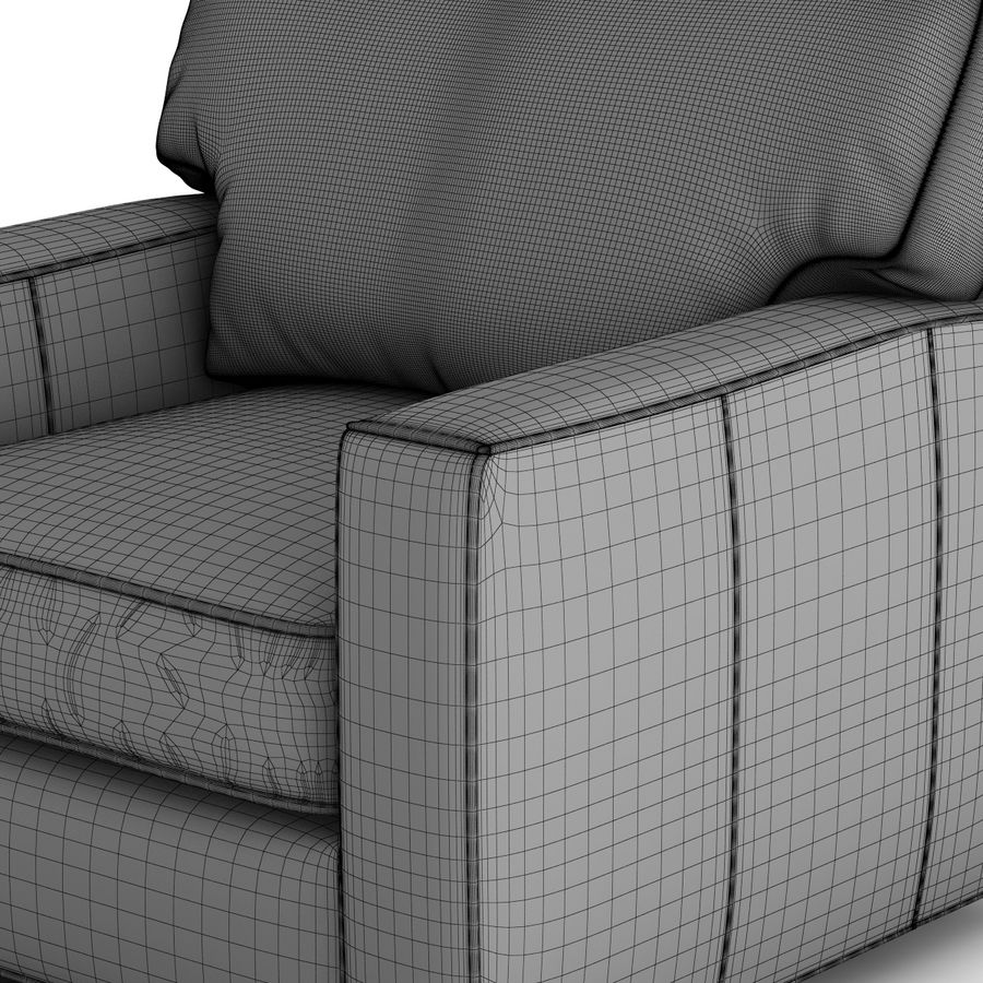 Crate and Barrel - Axis Leather Swivel Chair royalty-free 3d model - Preview no. 11