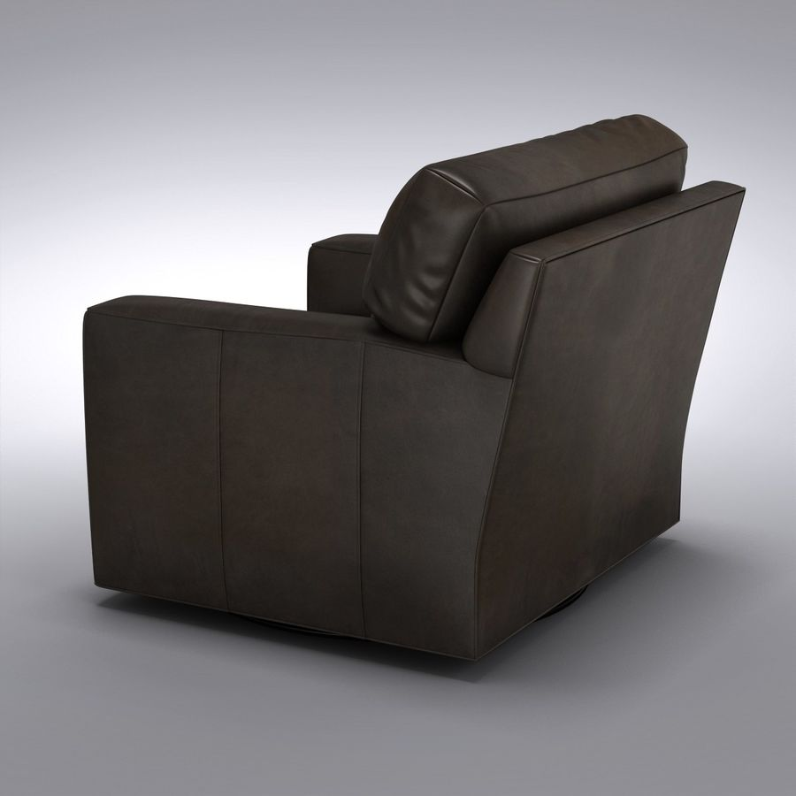 Crate and Barrel - Axis Leather Swivel Chair royalty-free 3d model - Preview no. 3