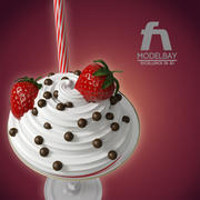 ストロベリーアイスクリーム 3d model