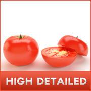 Wysoki szczegółowy pomidor z wewnątrz 3d model