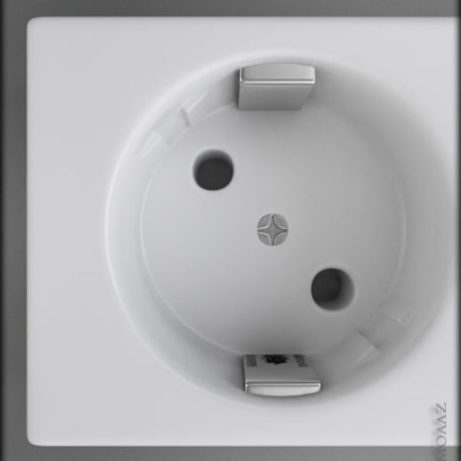 listwa zasilająca royalty-free 3d model - Preview no. 3