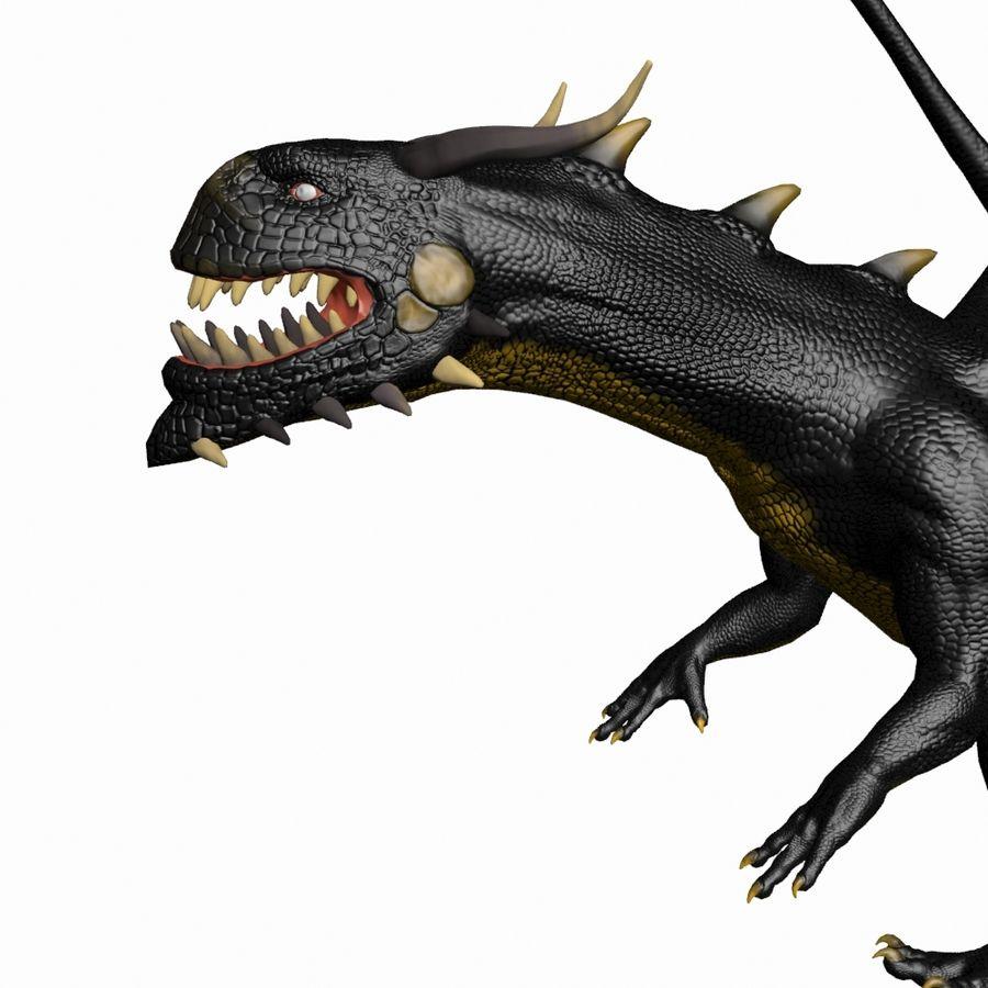 Black Dragon royalty-free 3d model - Preview no. 3