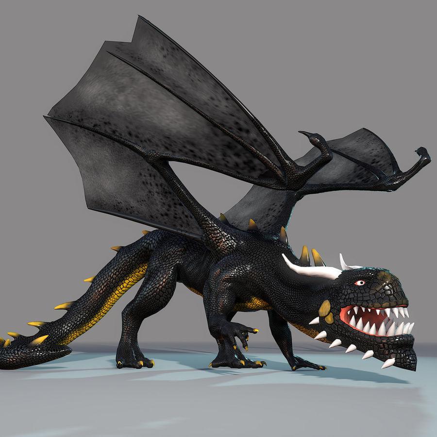 Black Dragon royalty-free 3d model - Preview no. 5