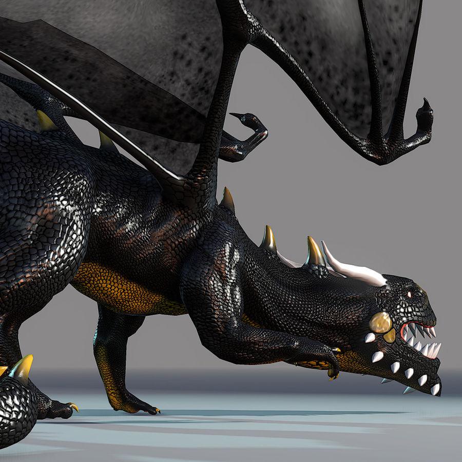 Black Dragon royalty-free 3d model - Preview no. 6