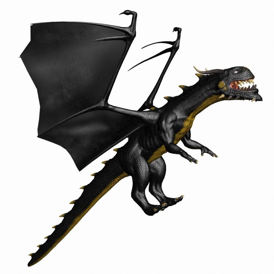 Black Dragon royalty-free 3d model - Preview no. 2