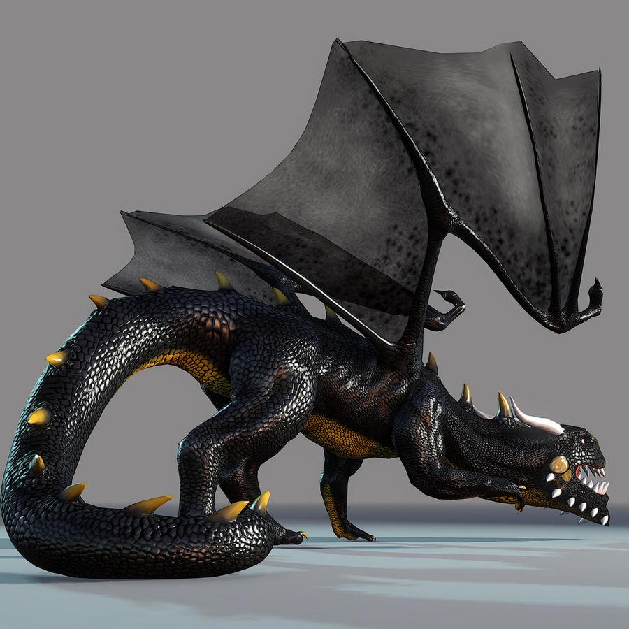 Black Dragon royalty-free 3d model - Preview no. 7