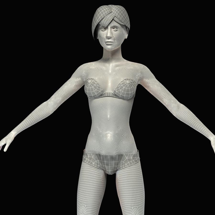 Anatomie féminine mince royalty-free 3d model - Preview no. 47