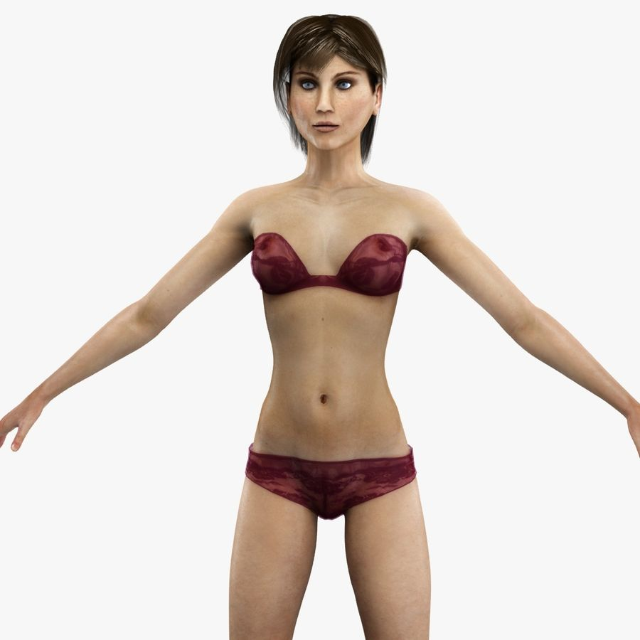 Anatomie féminine mince royalty-free 3d model - Preview no. 6