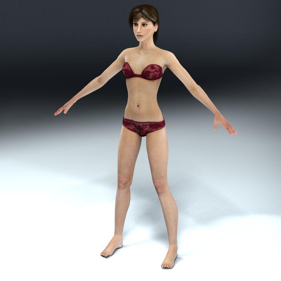 Kvinna Anatomi Slim royalty-free 3d model - Preview no. 16
