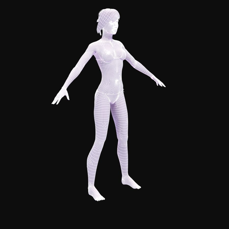 Anatomie féminine mince royalty-free 3d model - Preview no. 31
