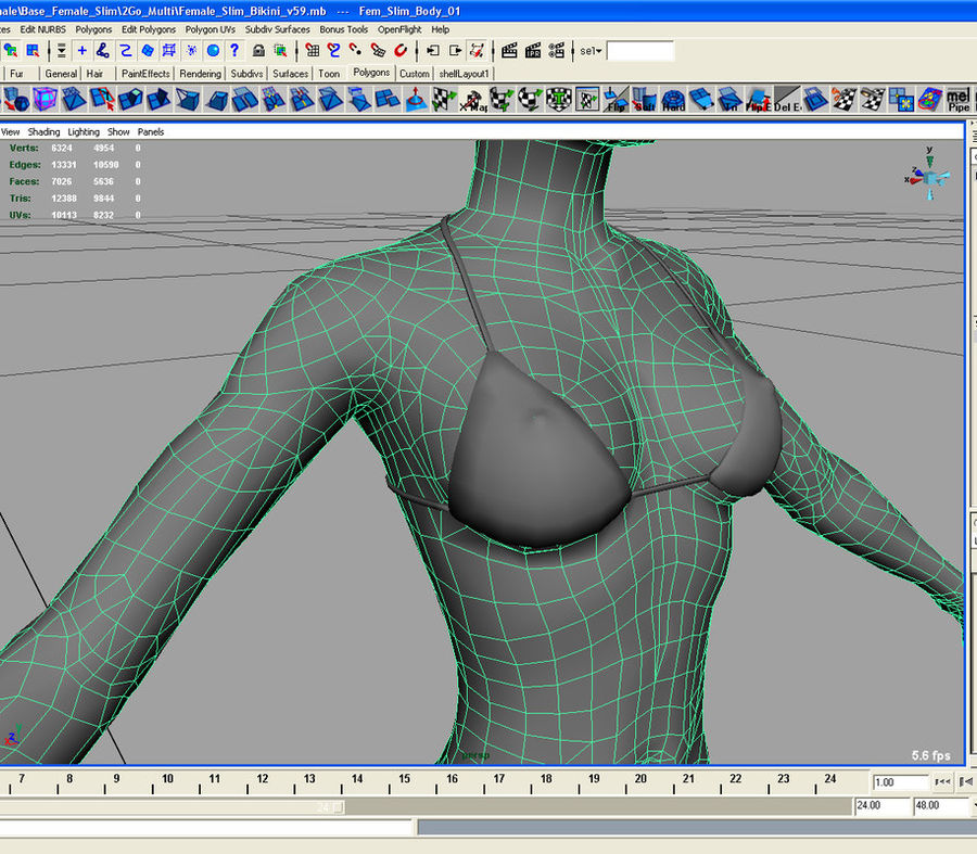 Anatomie féminine mince royalty-free 3d model - Preview no. 30