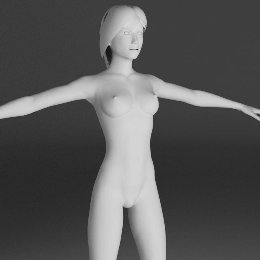 Kvinna Anatomi Slim royalty-free 3d model - Preview no. 17