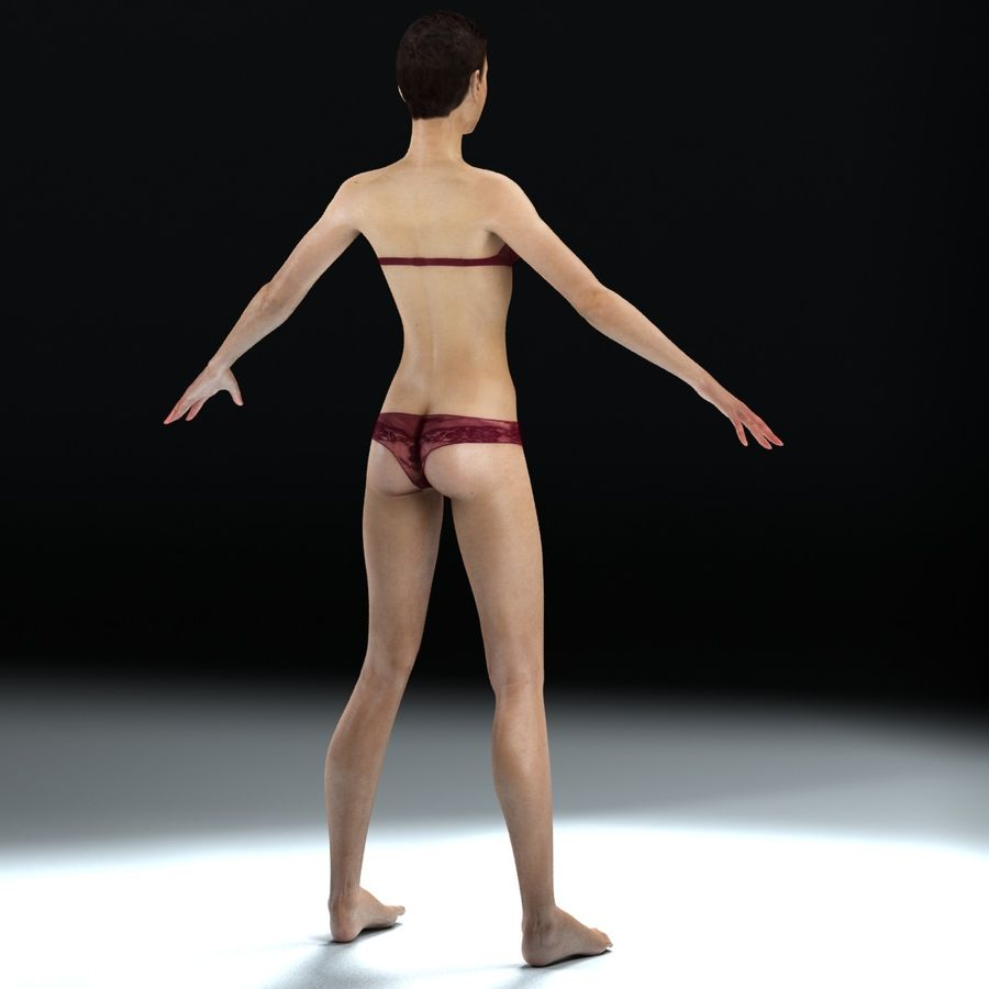 Anatomie féminine mince royalty-free 3d model - Preview no. 22