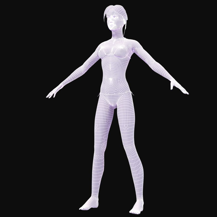 Anatomie féminine mince royalty-free 3d model - Preview no. 32