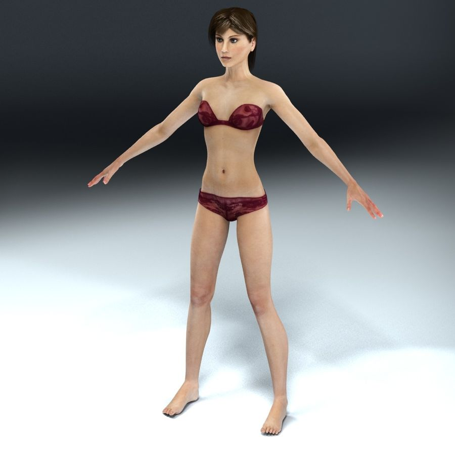 Anatomie féminine mince royalty-free 3d model - Preview no. 16