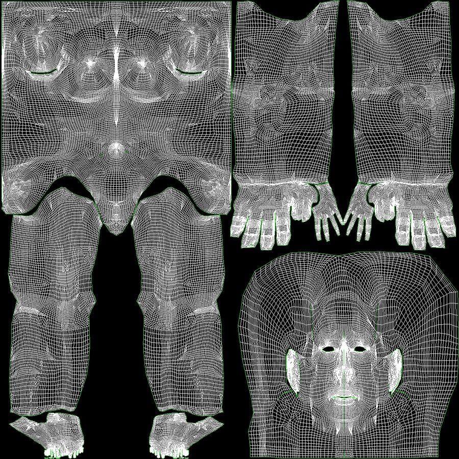 Kvinna Anatomi Slim royalty-free 3d model - Preview no. 45
