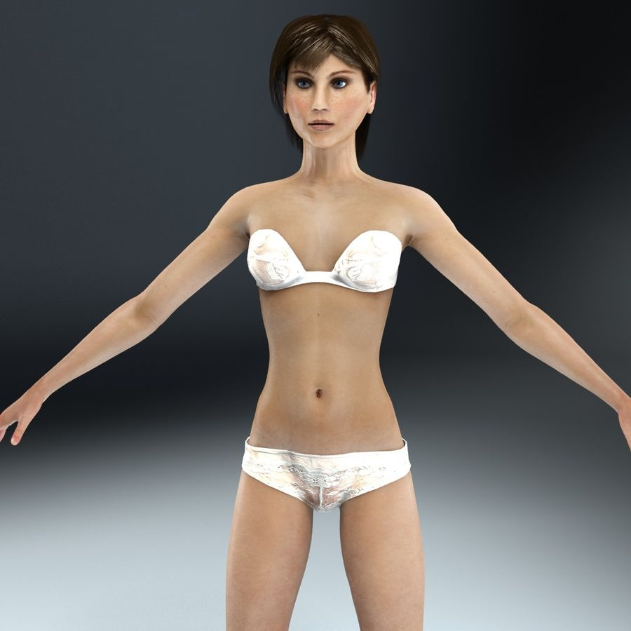 Anatomie féminine mince royalty-free 3d model - Preview no. 12