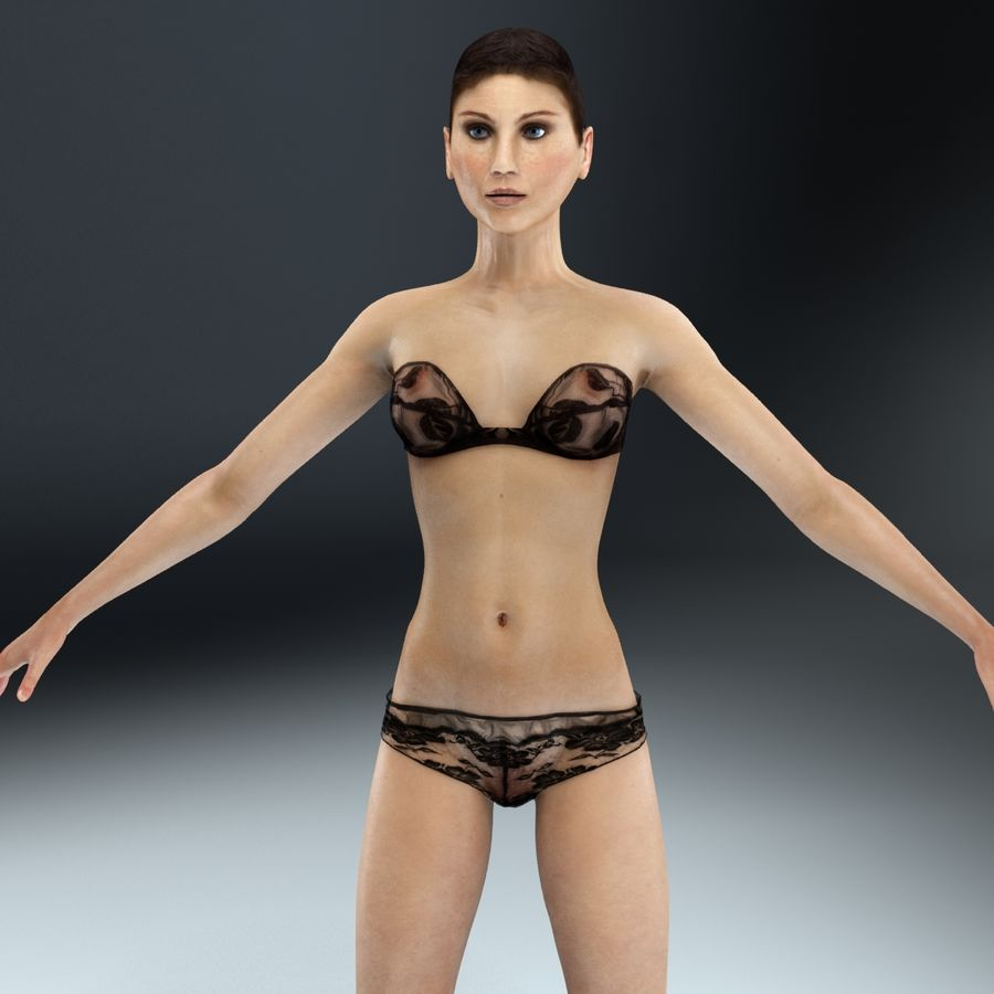 Anatomie féminine mince royalty-free 3d model - Preview no. 18