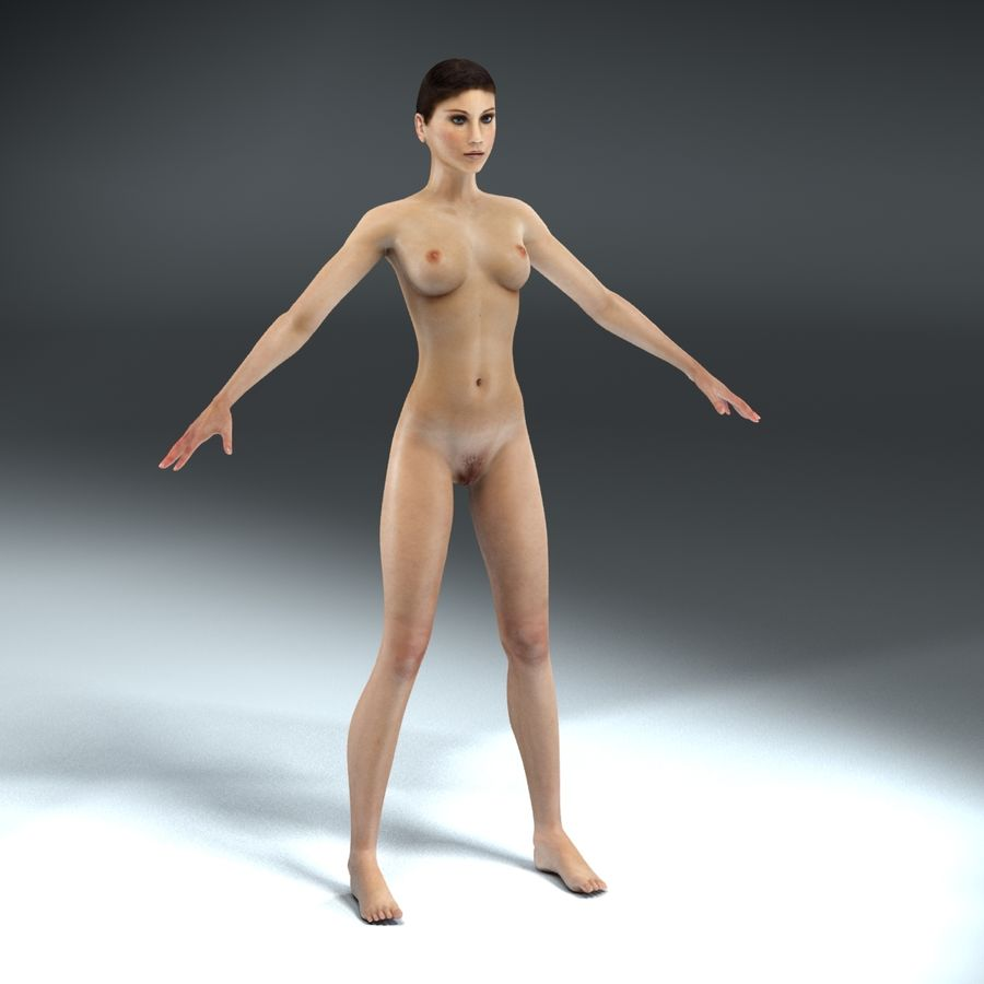 Anatomie féminine mince royalty-free 3d model - Preview no. 15