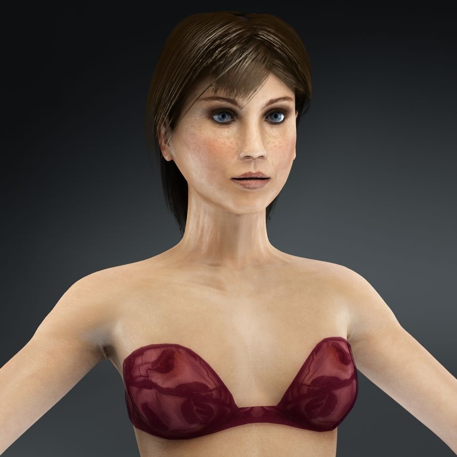 Anatomie féminine mince royalty-free 3d model - Preview no. 38