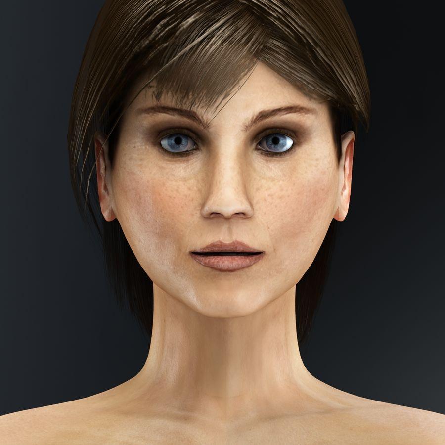 Kvinna Anatomi Slim royalty-free 3d model - Preview no. 9