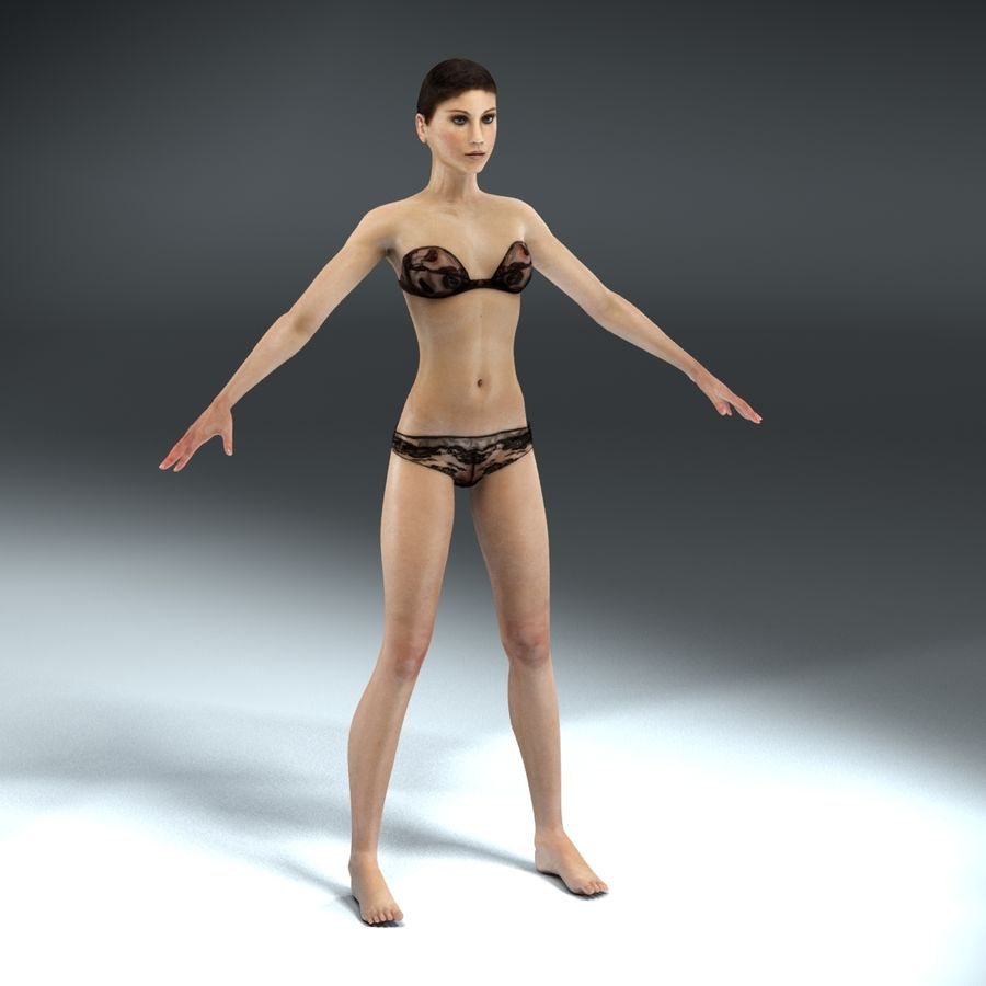 Anatomie féminine mince royalty-free 3d model - Preview no. 2