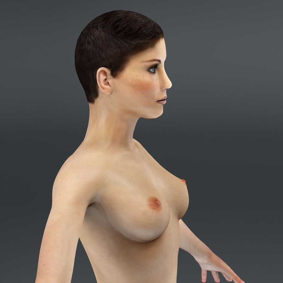Anatomie féminine mince royalty-free 3d model - Preview no. 40