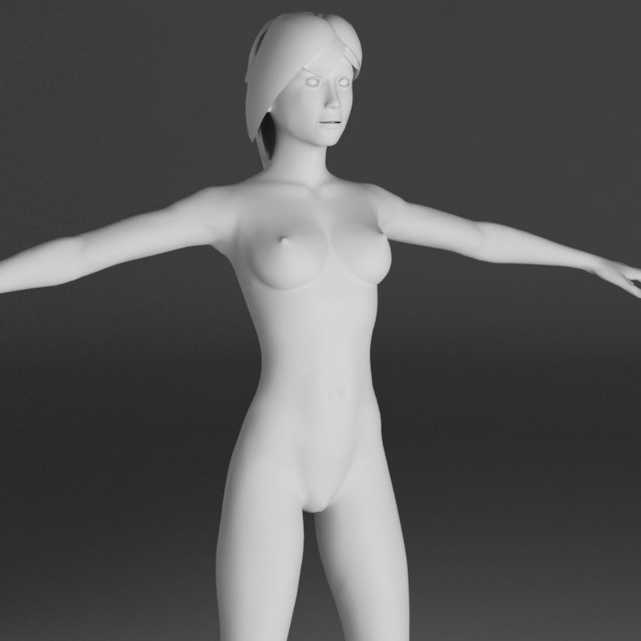 Anatomie féminine mince royalty-free 3d model - Preview no. 17