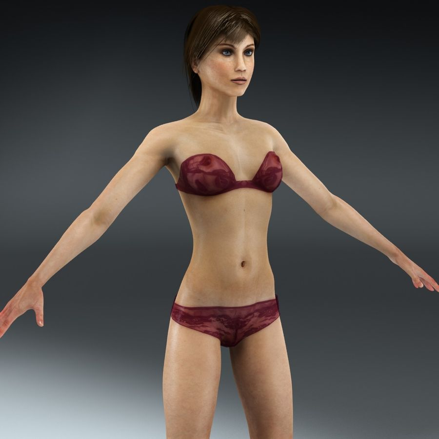 Anatomie féminine mince royalty-free 3d model - Preview no. 3