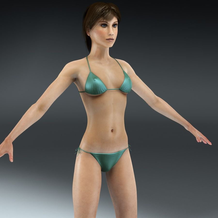 Anatomie féminine mince royalty-free 3d model - Preview no. 1