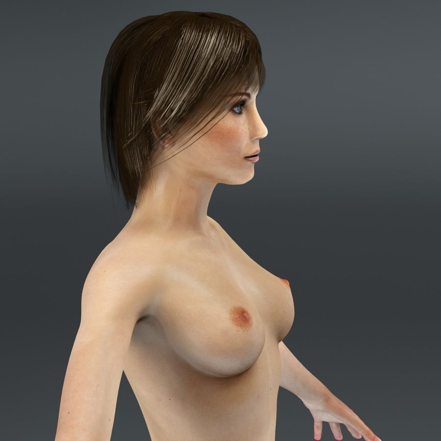 Anatomie féminine mince royalty-free 3d model - Preview no. 42