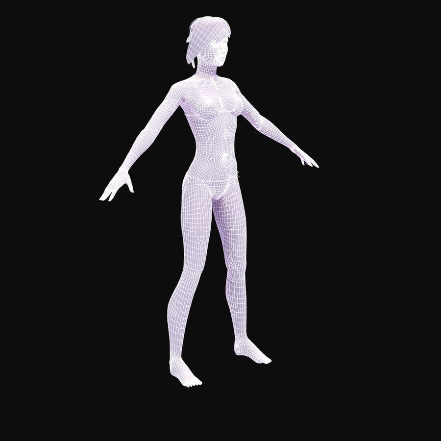 Kvinna Anatomi Slim royalty-free 3d model - Preview no. 31
