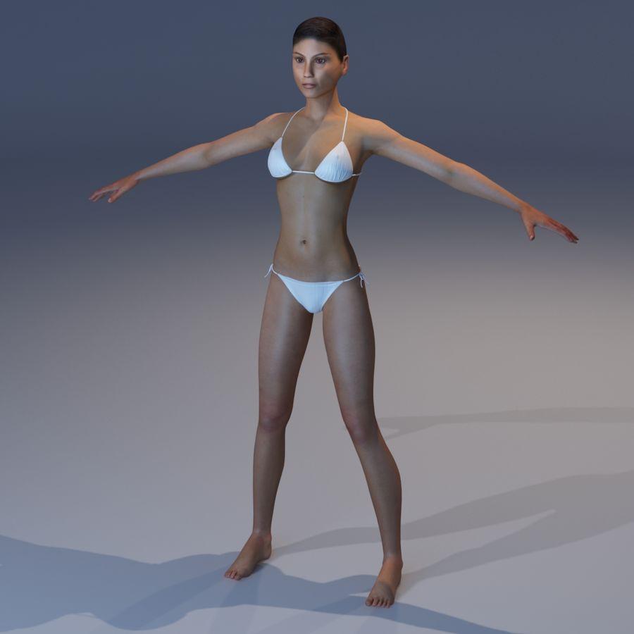 Kvinna Anatomi Slim royalty-free 3d model - Preview no. 27